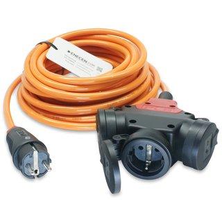 CEE 16A Geräteanschlusskabel Verlängerung H07BQ-F 3x1,5 mm² 50m mit CEE Stecker