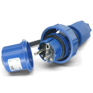 Stecker SK 230V/16A IP68 blau druckwasserdicht - PCE