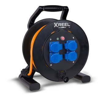 Kabeltrommel XREEL 230V/16A K2 IP54 PUR H07BQ-F 3x2,5mm² orange 30m