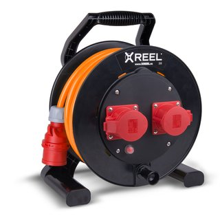 CEE Kabeltrommel XREEL 400V/16A K2 IP54 PUR H07BQ-F 5x2,5mm² orange 30m