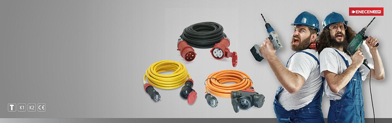 Verlängerungsleitungen , mit hochwertigen Steckvorrichtungen in diversen|br|Ausführungen mit unterschiedlichen Leitungstypen|btn|zu den Verlängerungsleitungen