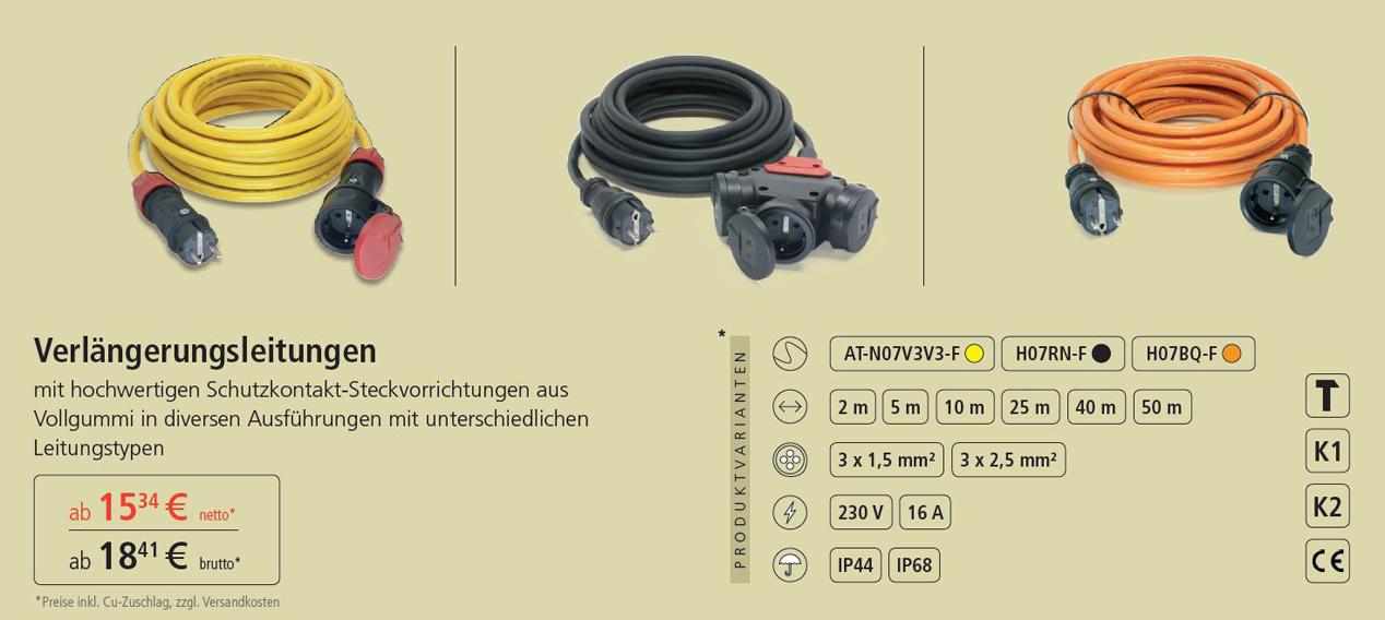 Verlängerungskabel  230V